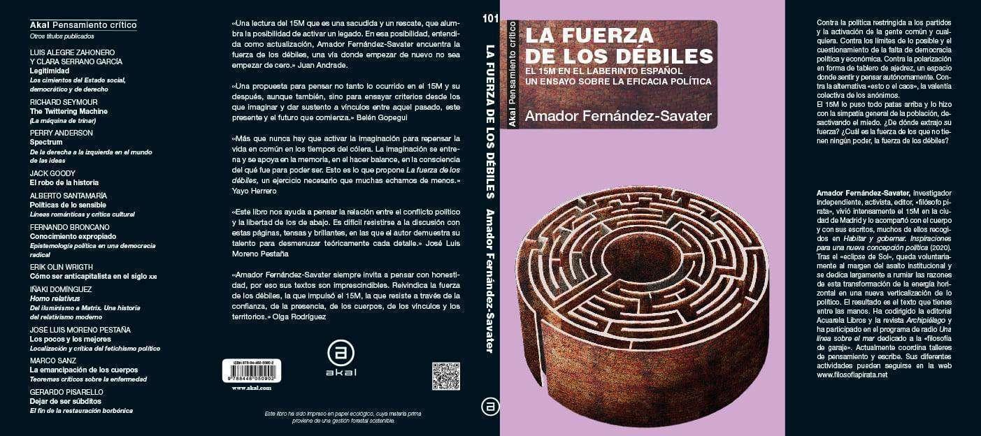 Presentación La fuerza de los débiles de Amador Fernández-Savater